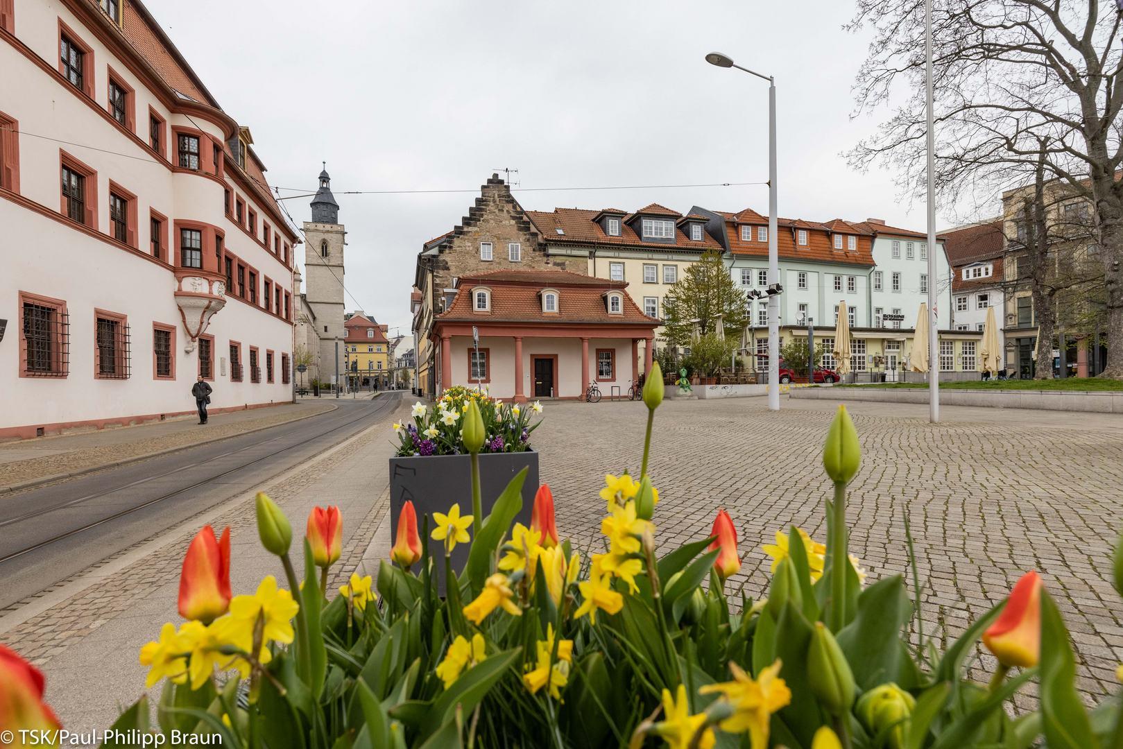 Die Thüringer Staatskanzlei in Erfurt