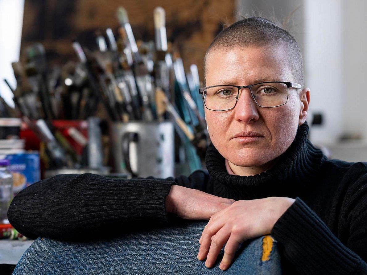 Porträtaufnahme der Künstlerin Tanja Pohl