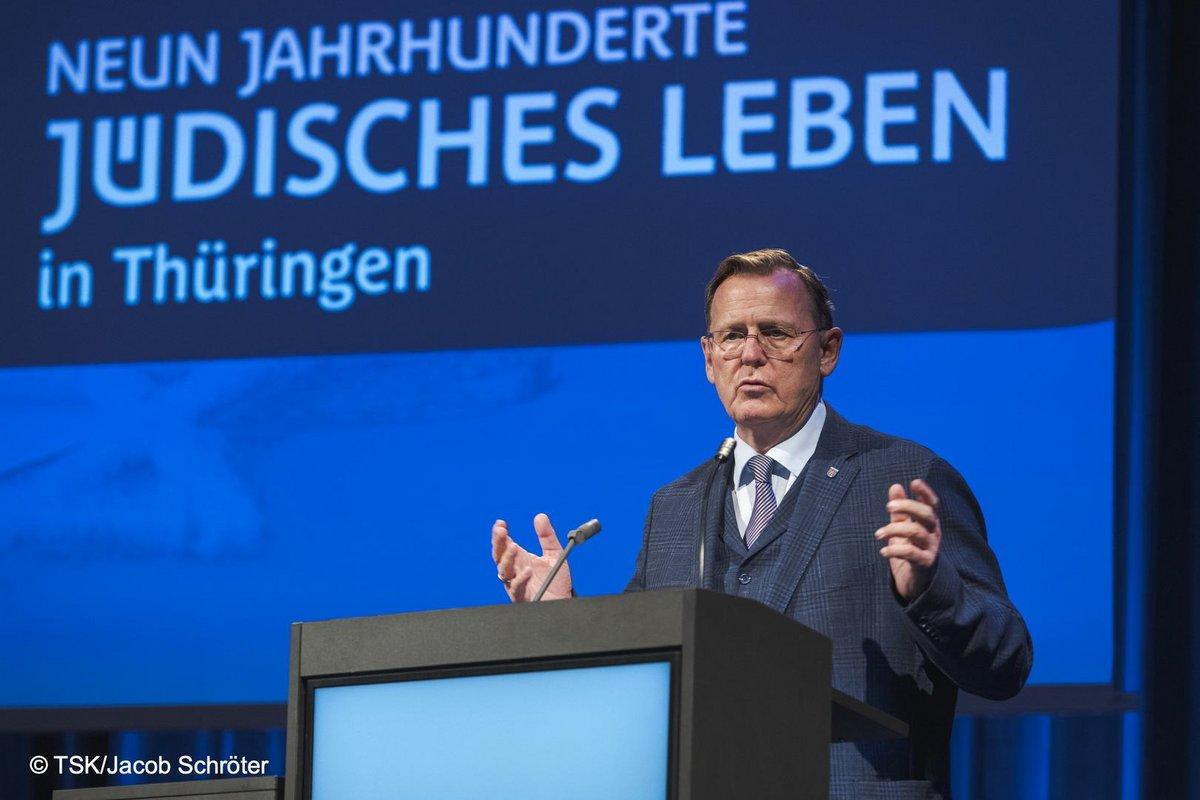 Ministerpräsident Bodo Ramelow während der Rede im Kaisersaal
