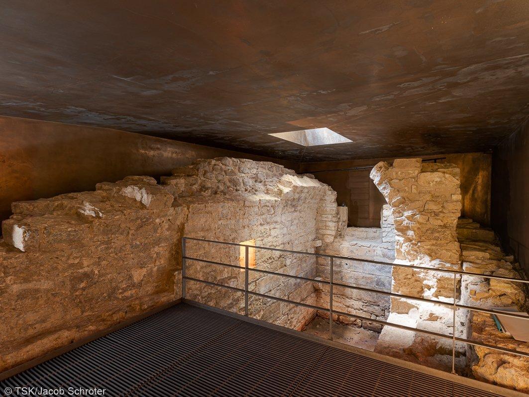 Reste der mittelalterlichen Mikwe in Erfurt