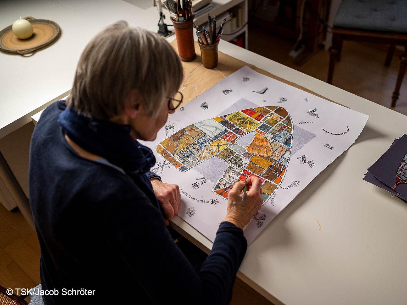 Eva Bruszis erschafft ein Werk
