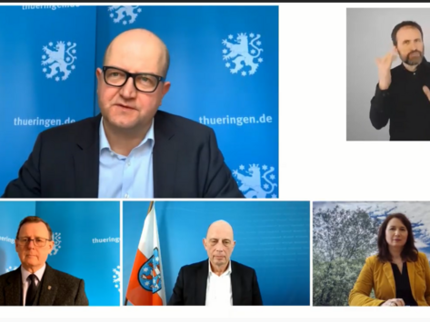 Screenshot eines Zoom-Meetings