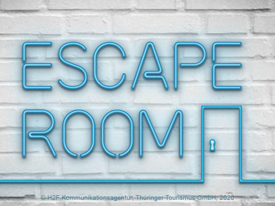 "das Logo der Aktion ""Escape Room"""